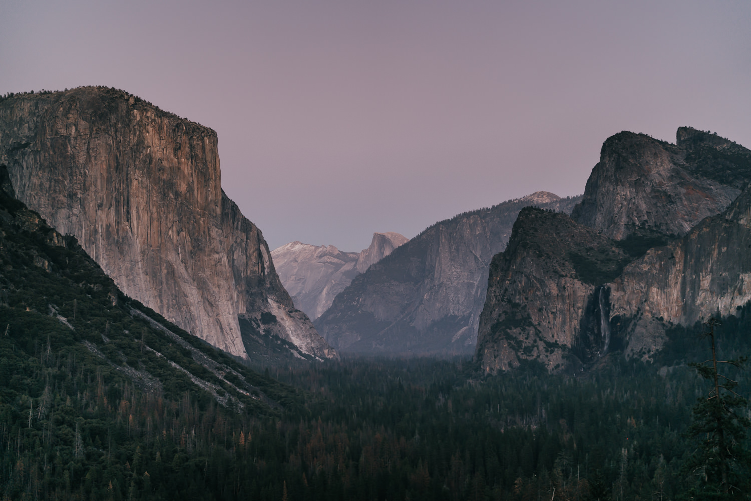 elopement sunset yosemite valley
